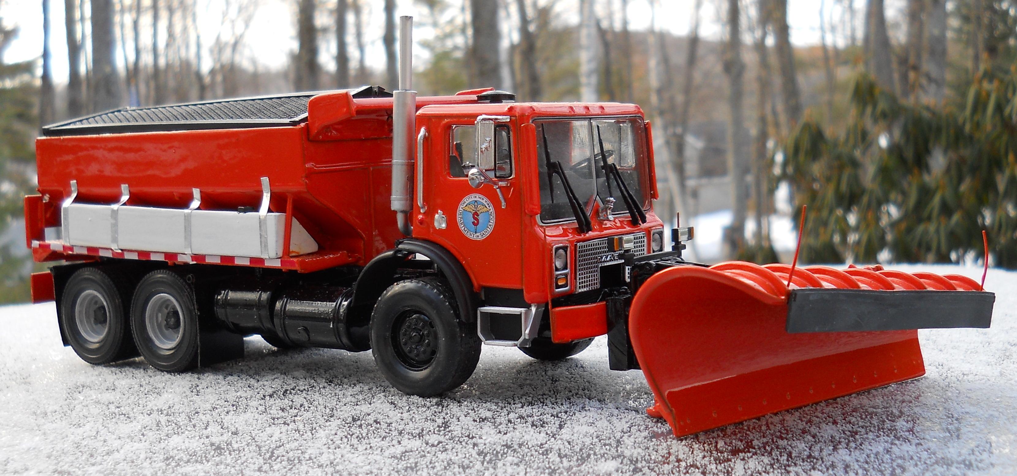 Orange Plow Truck